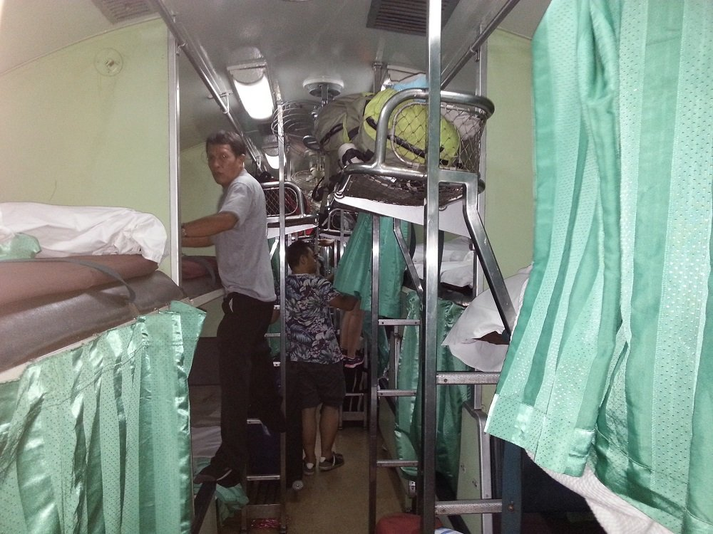 2nd Class Air-Con Sleeper Seat being prepared for the evening time on Train #51