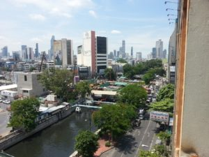 View from rooms at the Krungkasem Srikrung Hotel