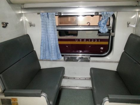 Second Class Air-Con sleeper seats on train to Chiang Mai