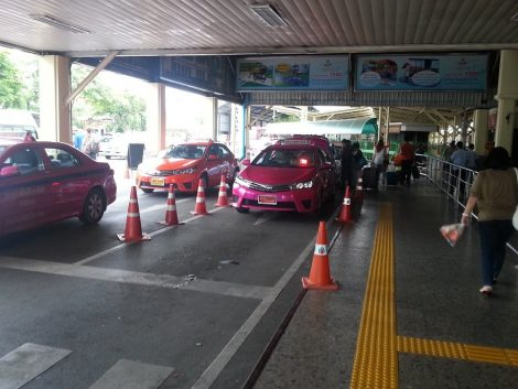 Taxi rank outside Bangkok Train Station