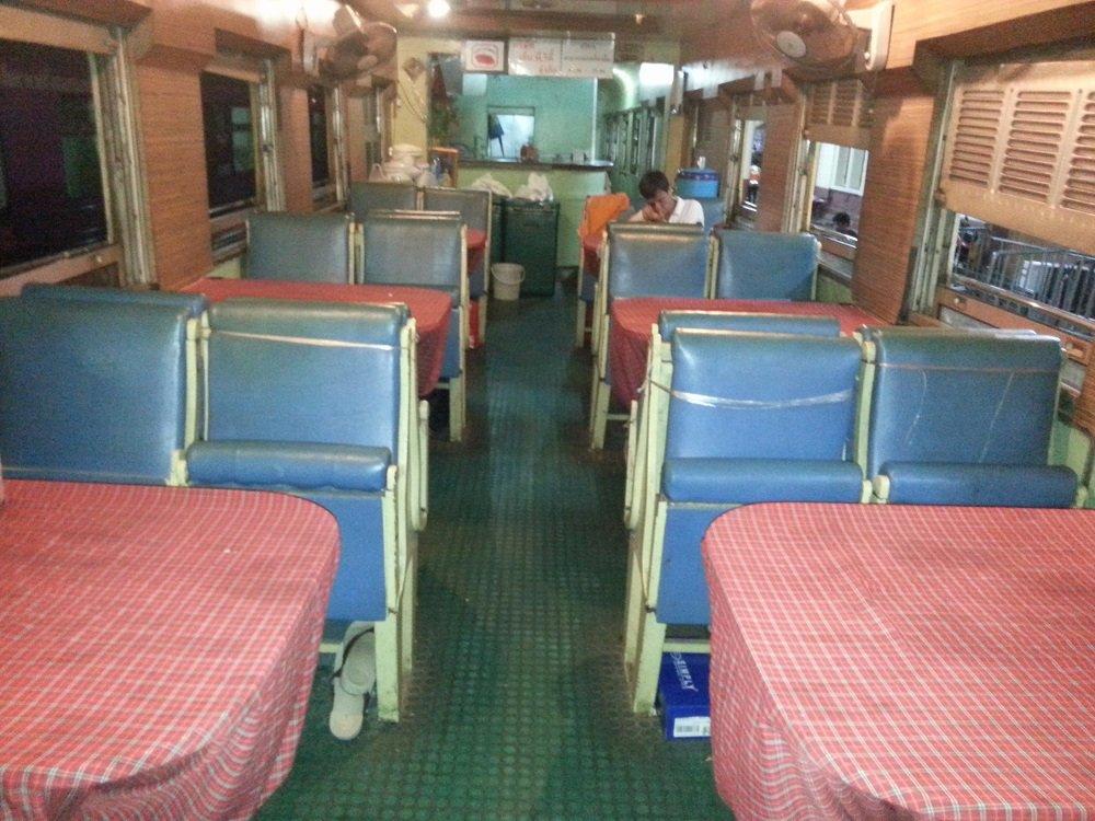Train #13 has a Restaurant Car